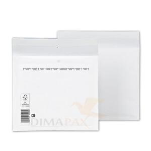 100 Stück CD  Luftpolstertaschen WEISS