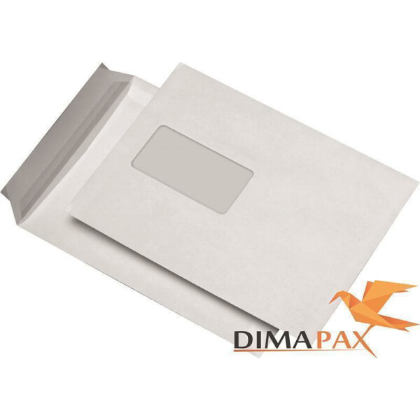 Versandtaschen DIN C5 mit Fenster 162 x 229 mm Haftklebung weiss