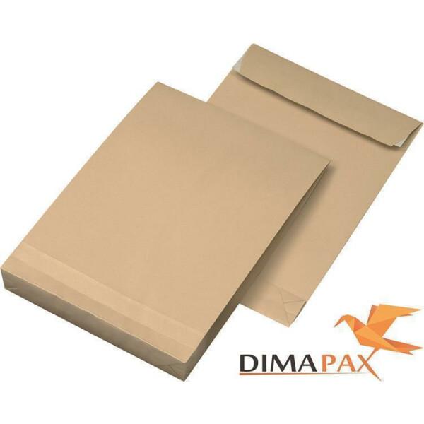 250 Faltentaschen DIN C4 229 x 324 x 40 mm - BRAUN