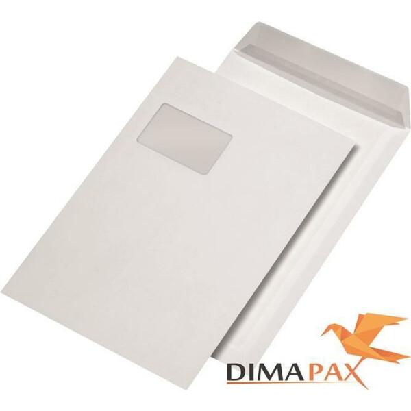 Versandtaschen DIN C4 HK FENSTER WEISS 120 g/m²