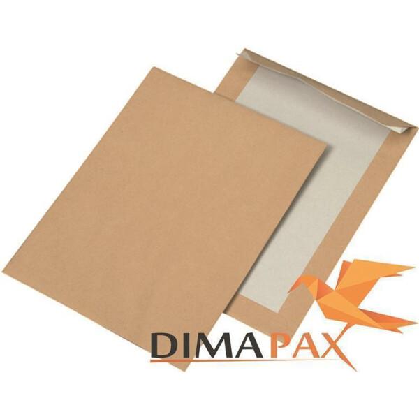 Papprückwand Versandtaschen  DIN C5 162 x 229 mm BRAUN