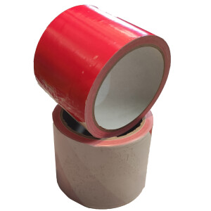 Absperrband 75 mm x 100 m  rot/weiß
